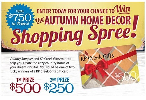 Autumn Home Decor Shopping Spree Giveaway