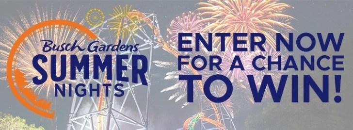Busch Gardens Summer Nights Contest
