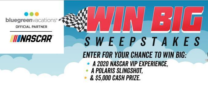 NASCAR Win Big Sweepstakes – Chance To Win Polaris Slingshot