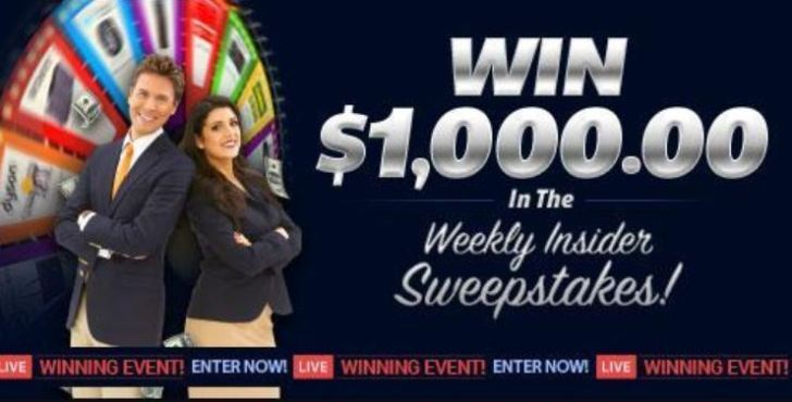 PCH $1000 Weekly Insider Giveaway