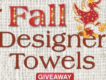 Quacker Factory Fall Designer Towels Giveaway