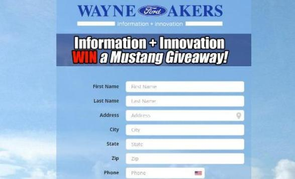 Wayne Akers Ford Information Innovation 2020 Giveaway