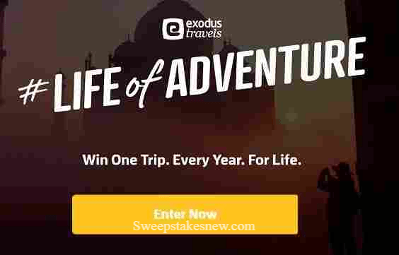 Exodus Life of Adventure Sweepstakes