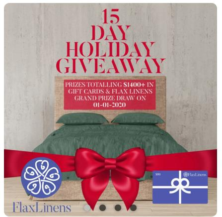 Flax Linens 15 Days of Holiday Giveaway