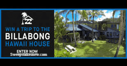 Win a Trip to the Billabong Hawaii House Sweepstakes