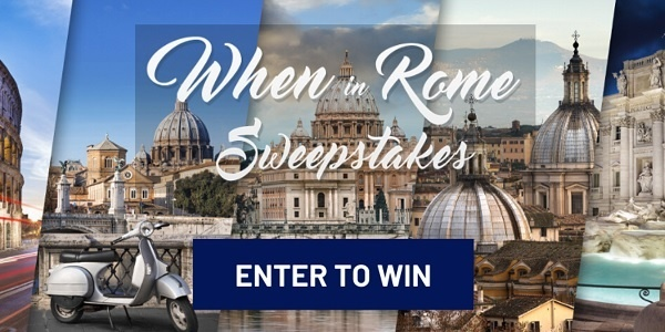Frankly Media When in Rome Sweepstakes