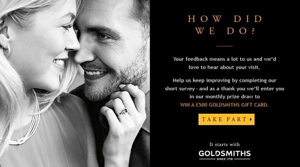 Goldsmiths Feedback Survey Contest