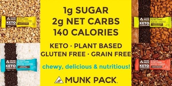Munk Pack Keto Granola Bar Giveaway