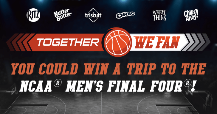 Nabisco NCAA Together We Fan Sweepstakes & Instant Win Game