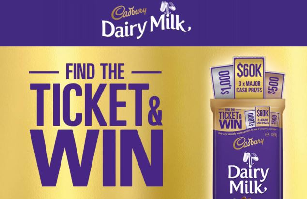 Cadbury Find The Ticket Olympics Competition
