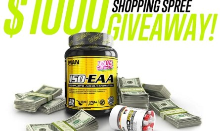 Man Sports Nutrition $1000 Shopping Spree Giveaway