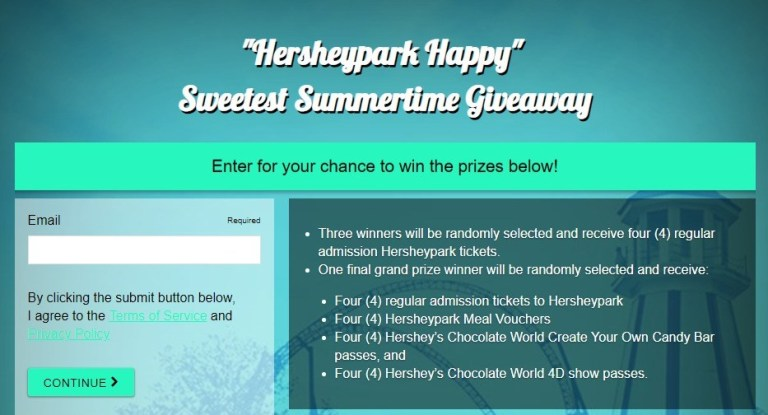 WTAJ Hersheypark Happy Sweetest Summertime Giveaway