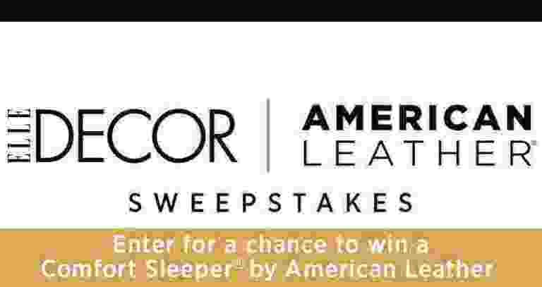 Elle Decor American Leather Comfort Sleeper Sweepstakes