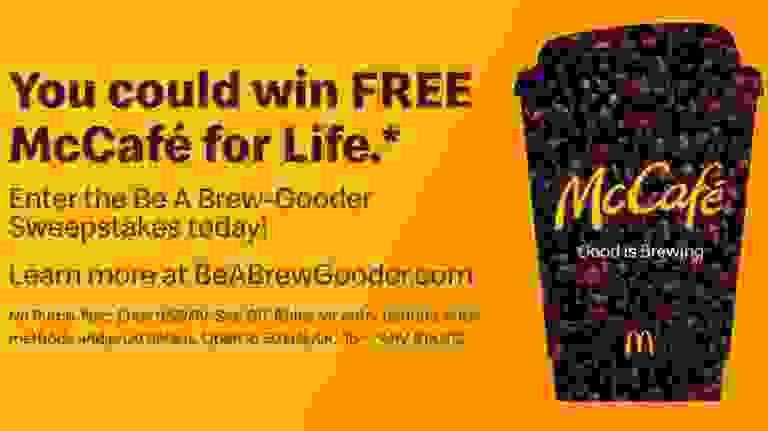 McCafe Be A Brew-Gooder Sweepstakes - Win Prizes