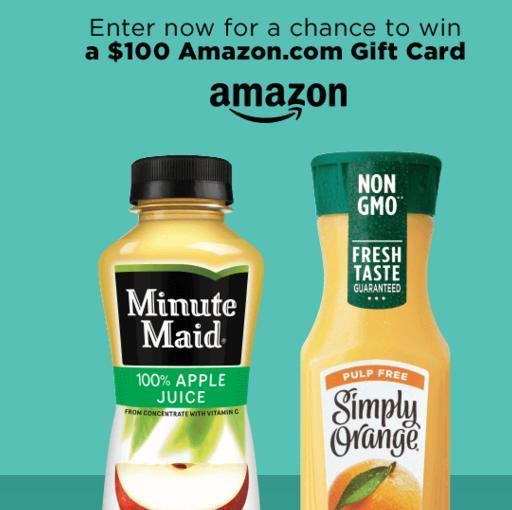 Minute Maid And Simply Beverages Sweepstakes – Win $100 Gift Card