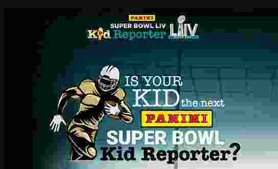 Panini Super Bowl Kid Reporter Sweepstakes - Win Tickets