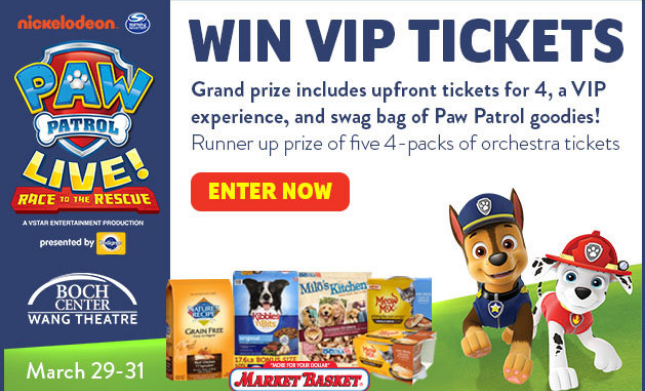 Paw Patrol Live Race To The Rescue Sweepstakes – Win Tickets