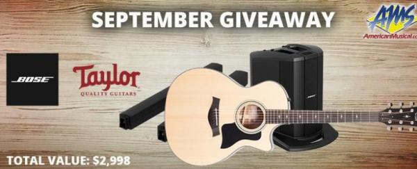 Taylor & Bose Gear Giveaway – Chance To Win Guitar