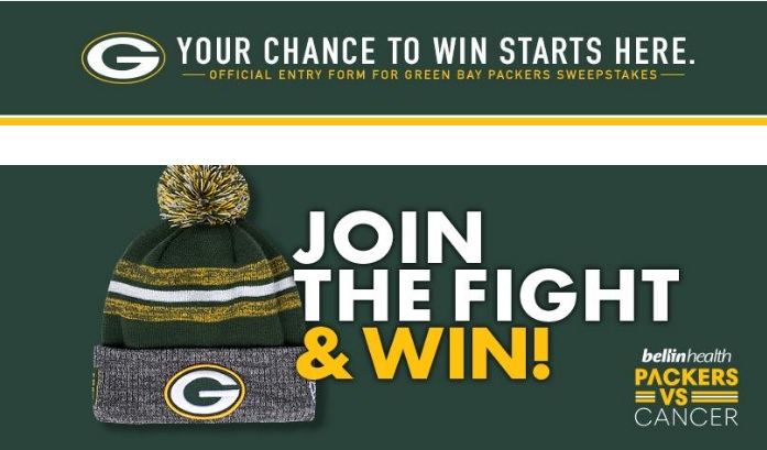 Green Bay Packers Vs Cancer Knit Hat Sweepstakes – Win Gift Card