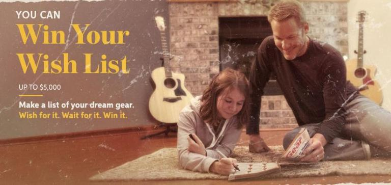 Sweetwater Win Your Wish List Giveaway - Win Cash Prizes