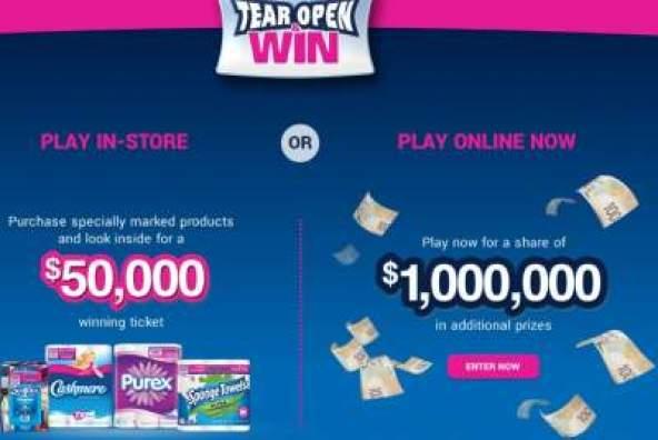 Tear Open and Win Contest - Win Check