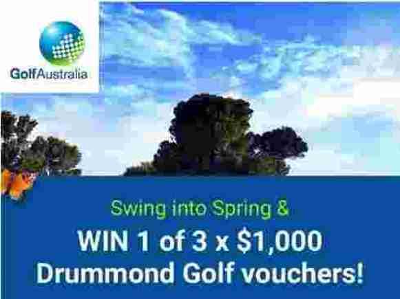 Golf Australia X Drummond Golf X Kayo Contest - Win Cash Prizes