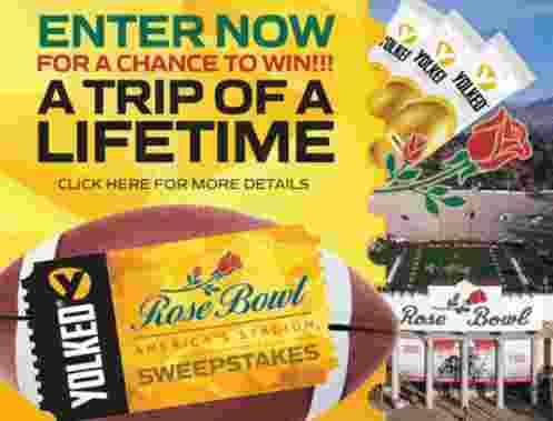 Yolked Rose Bowl Stadium Sweepstakes - Win Trip