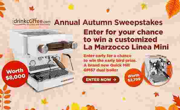 iDrinkCoffee Annual Autumn Sweepstakes - Win Cash Prizes