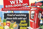 PCH $25000 Gas Groceries Giveaway - Win Cash Prizes