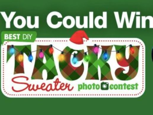 DIY Tacky Sweater Photo Contest - Win Cash Prizes