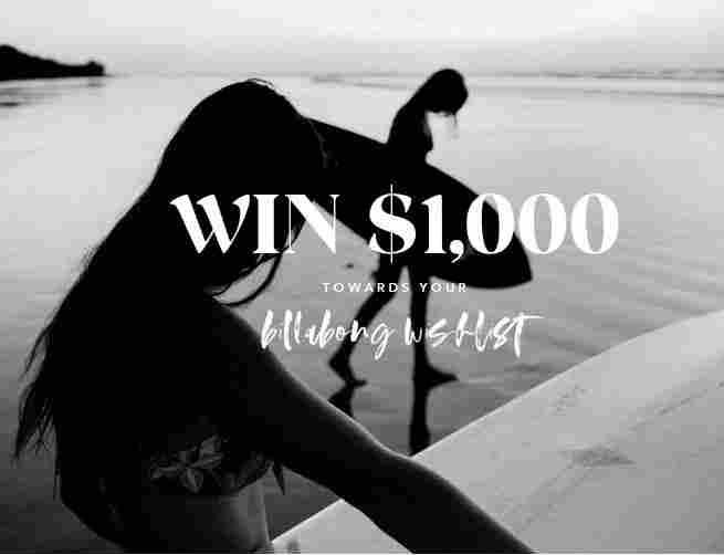 Billabong Wishlist Sweepstakes - Win Gift Card