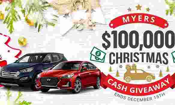 Myers Christmas Cash Giveaway - Win Cash Prizes