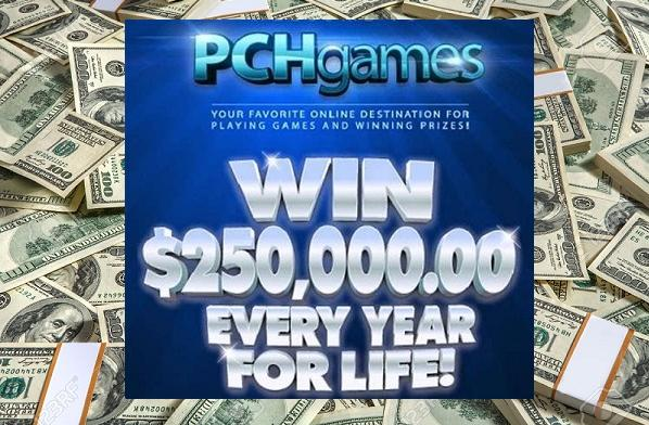 PCH $250000 A Year For Life Superprize Giveaway - Win Cash Prizes