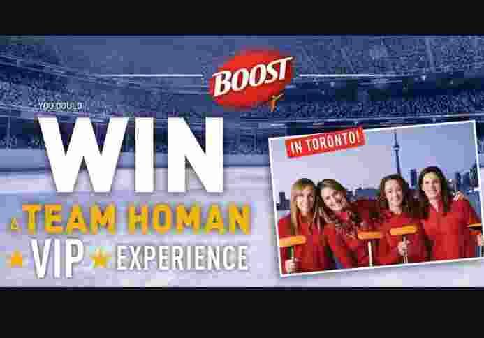 Team Homan Boost Nutrition Contest - Win Trip