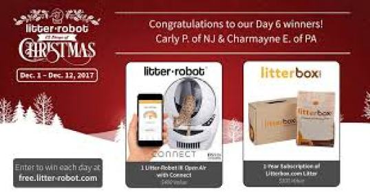 Litter Robot 12 Days of Christmas Sweepstakes - Win Gift Card