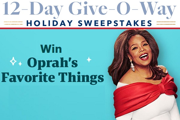 Oprah 12 Days of Christmas Giveaway - Win Prize