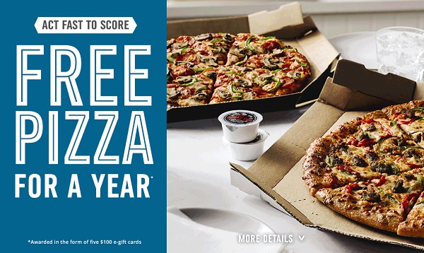 Quikly Domino's Giveaway - Win Gift Card