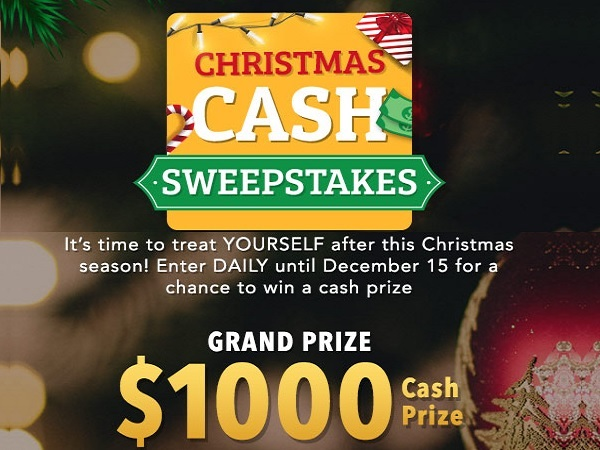 ShopLC Christmas Cash Sweepstakes - Win Cash Prizes