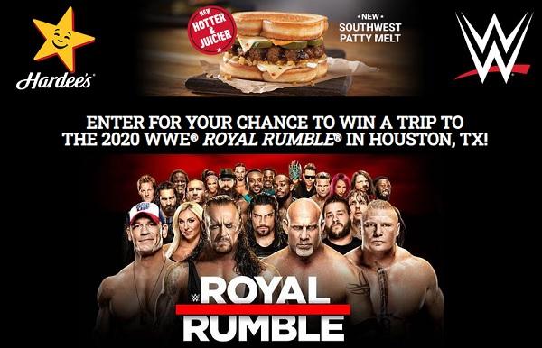 WWE Hardees Sweepstakes - Win Tickets