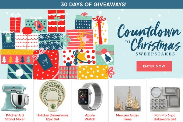 BHG Countdown to Christmas Sweepstakes - Win Prize
