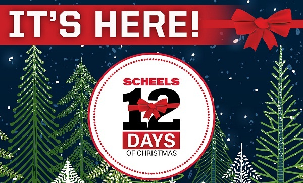 Scheels 12 Days of Christmas Sweepstakes - Win Prize