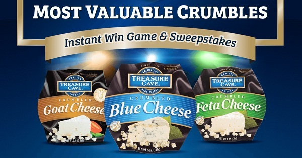 Treasure Cave Winning Crumbles Instant Win Game - Win Prize