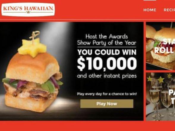 Kings Hawaiian Sweet Slider Sweepstakes - Win Gift Card