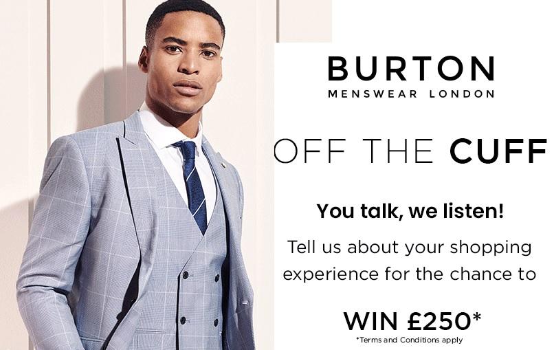 Burton Feedback Survey Sweepstakes - Win Cash Prizes