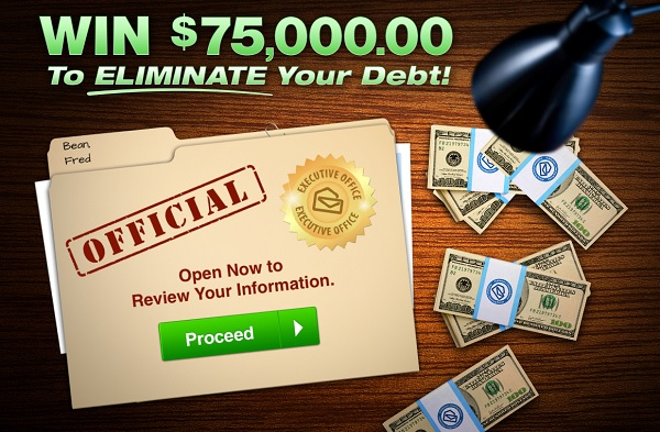 PCH $75000 Eliminate Your Debt Giveaway - Win Cash Prizes