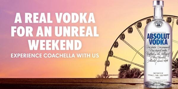 Absolut Coachella Festival Sweepstakes - Win Trip