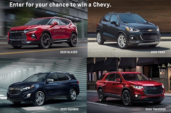 Chevrolet Win A Chevy Sweepstakes