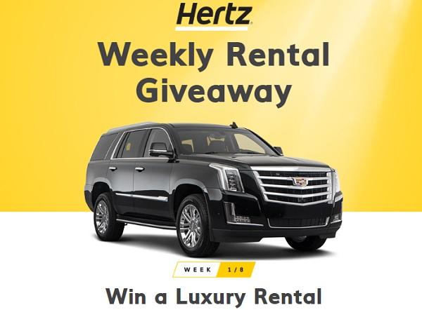 Hertz Weekly Rental Giveaway - Win Car