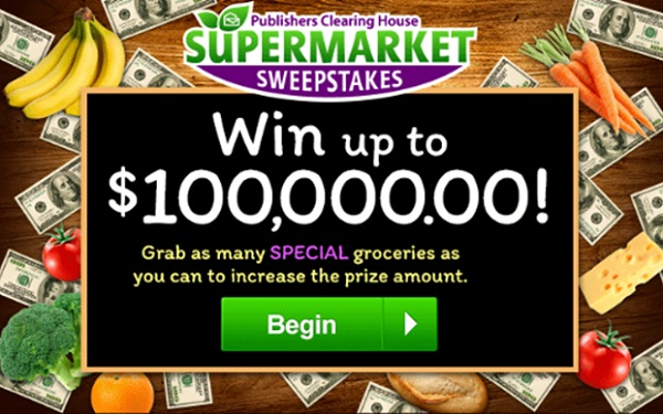 PCH Supermaket Sweepstakes Giveaway - Win Cash Prizes