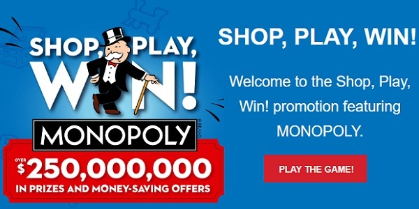 Safeway Shop Play Win Monopoly Game